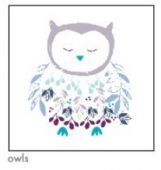 Ade+Anais swaddle Thistle - Owls