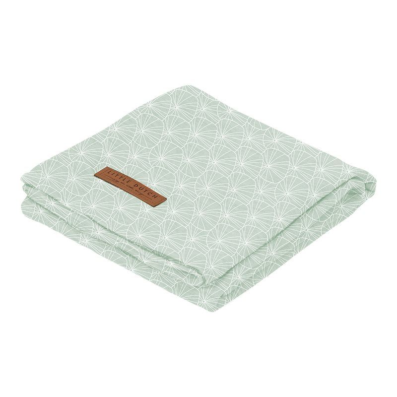 Little Dutch Swaddle 120x120 Leaves Mint