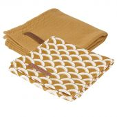 Little Dutch pleny swaddle 70x70 Sunrise Ocher 2ks